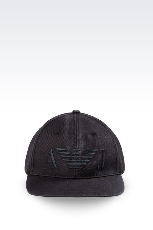COTTON BASEBALL CAP WITH LOGO: Hats Men by Armani - 1