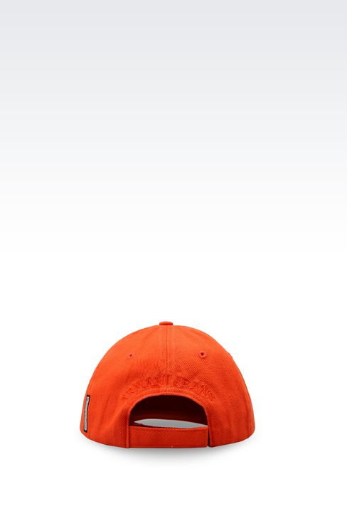 COTTON BASEBALL CAP WITH LOGO: Hats Men by Armani - 2