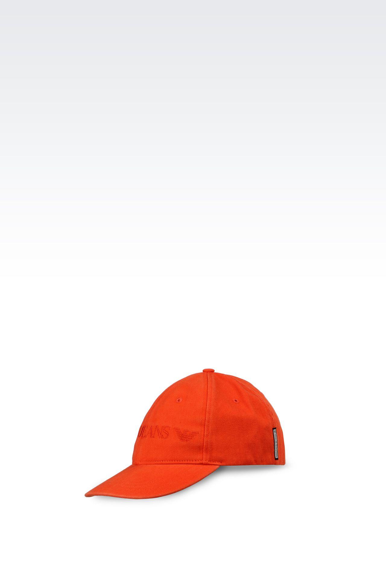COTTON BASEBALL CAP WITH LOGO: Hats Men by Armani - 0
