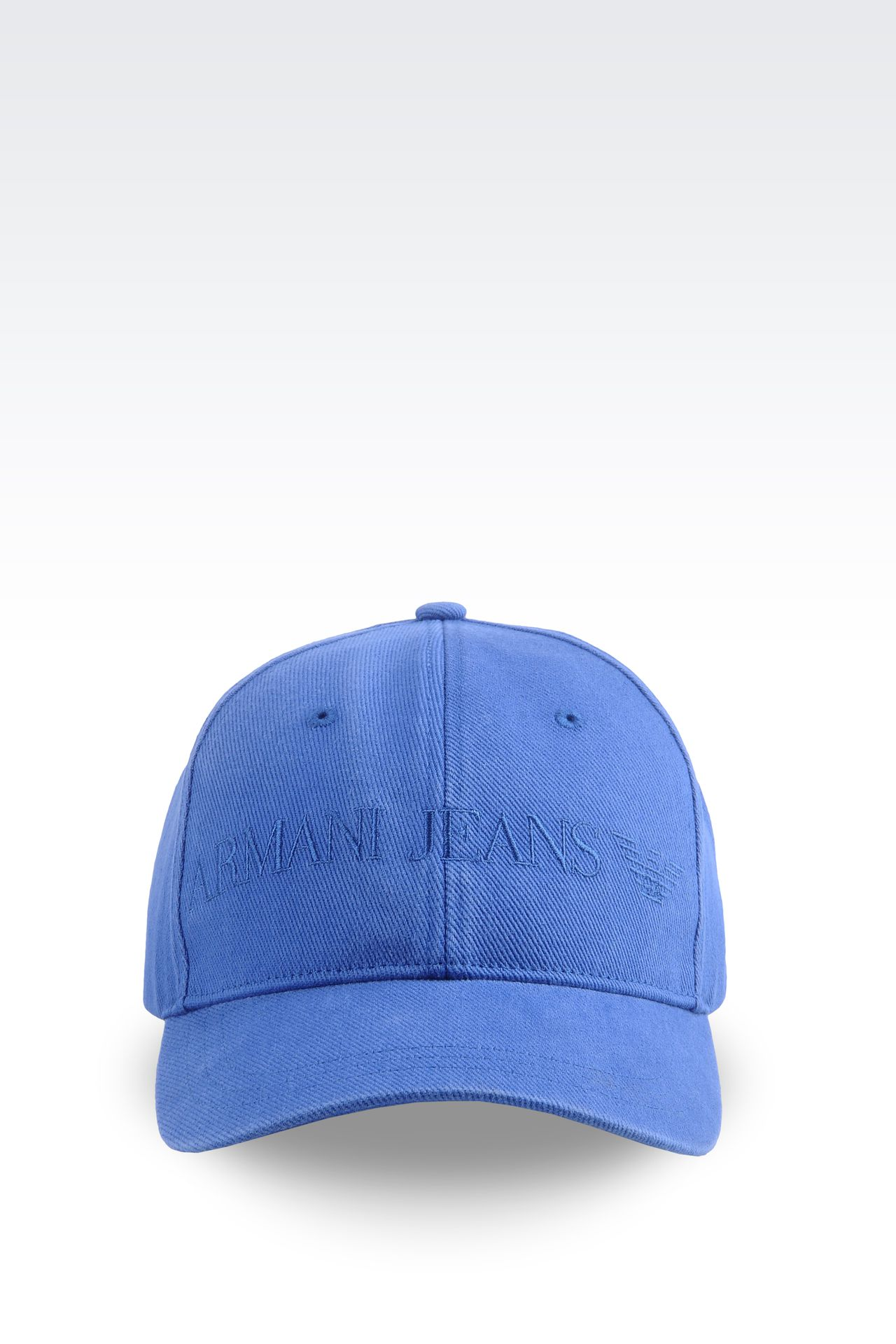 COTTON BASEBALL CAP WITH LOGO: Hats Men by Armani - 0