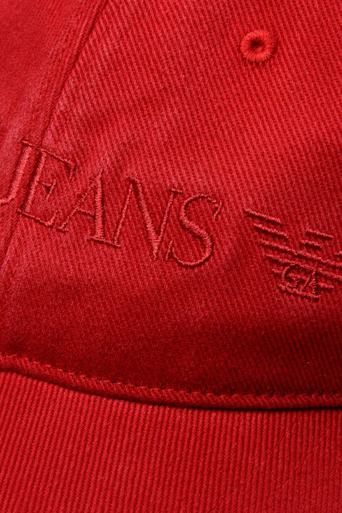 COTTON BASEBALL CAP WITH LOGO: Hats Men by Armani - 3