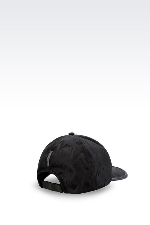 BASEBALL CAP IN LOGOED FABRIC: Hats Men by Armani - 2