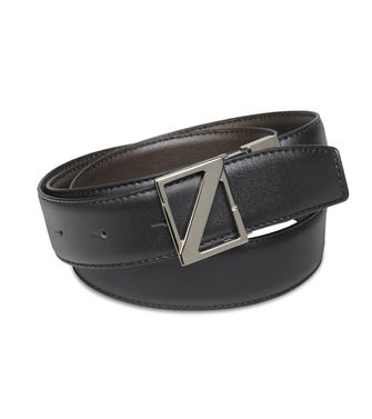 ZZEGNA: Belt Grey - Slate blue - 46231431QO