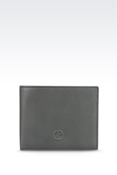 BI-FOLD WALLET IN TUMBLED LEATHER: Wallets Men by Armani - 1