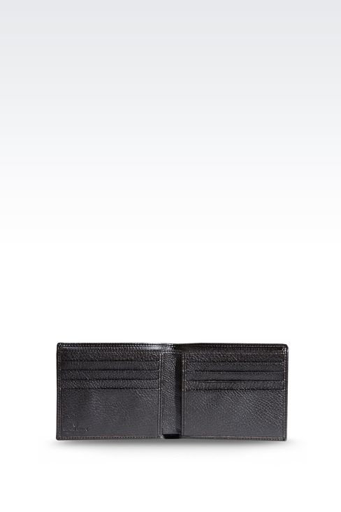 BI-FOLD WALLET IN TUMBLED LEATHER: Wallets Men by Armani - 3
