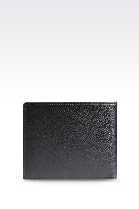 BI-FOLD WALLET IN TUMBLED LEATHER: Wallets Men by Armani - 2