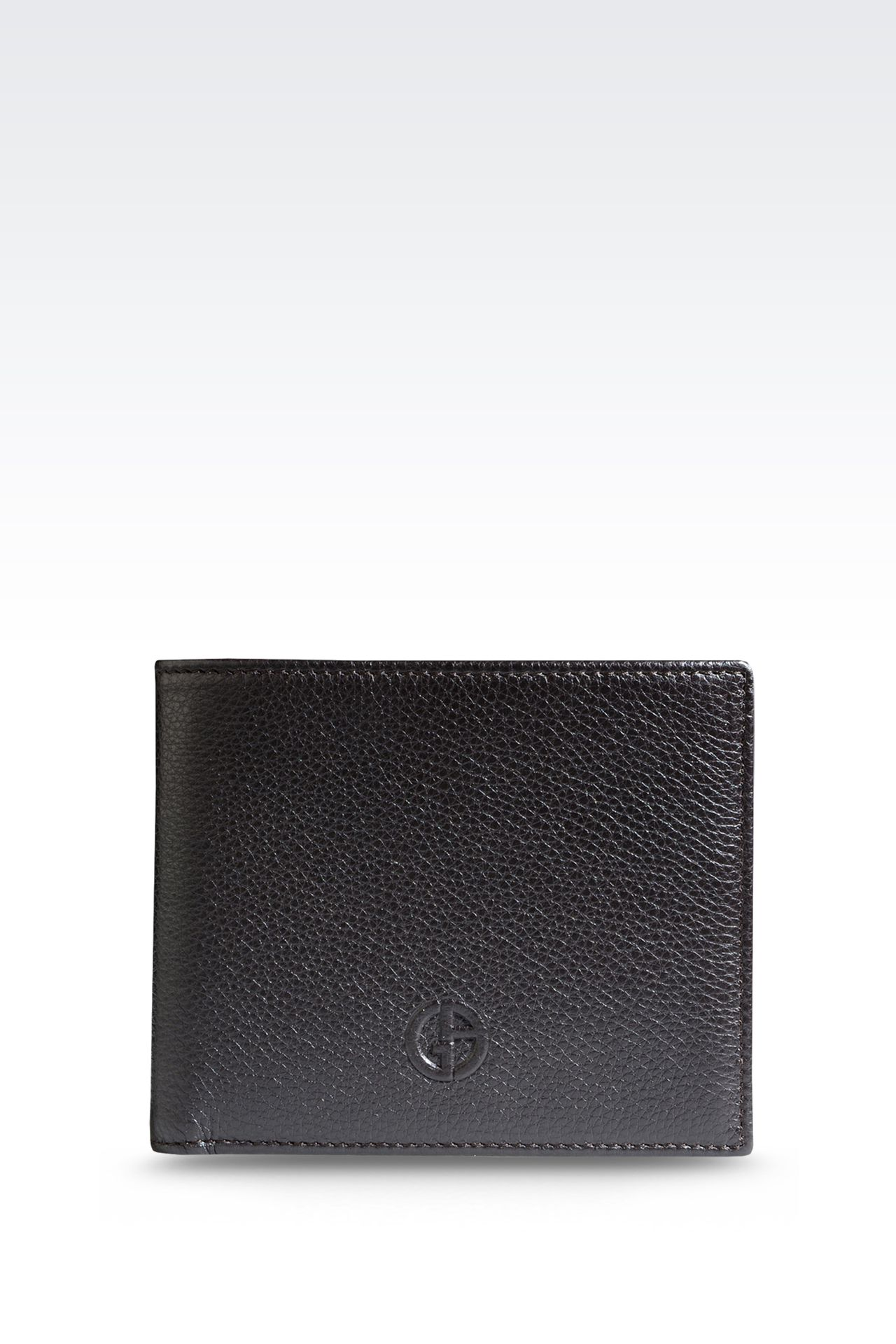 BI-FOLD WALLET IN TUMBLED LEATHER: Wallets Men by Armani - 0