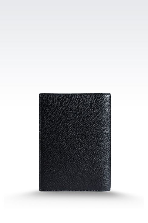 PASSPORT HOLDER IN TUMBLED CALFSKIN: Document holders Men by Armani - 2