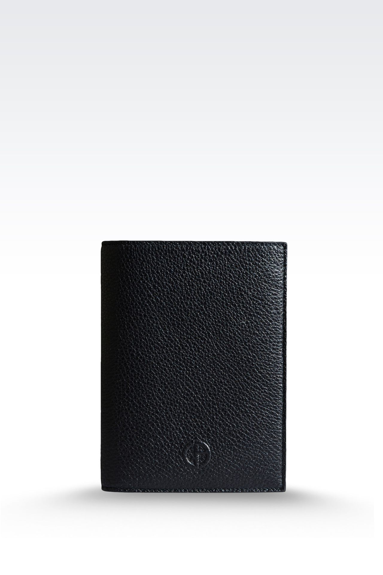 PASSPORT HOLDER IN TUMBLED CALFSKIN: Document holders Men by Armani - 0