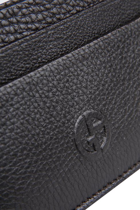 CARD HOLDER IN TUMBLED LEATHER: Card holders Men by Armani - 3