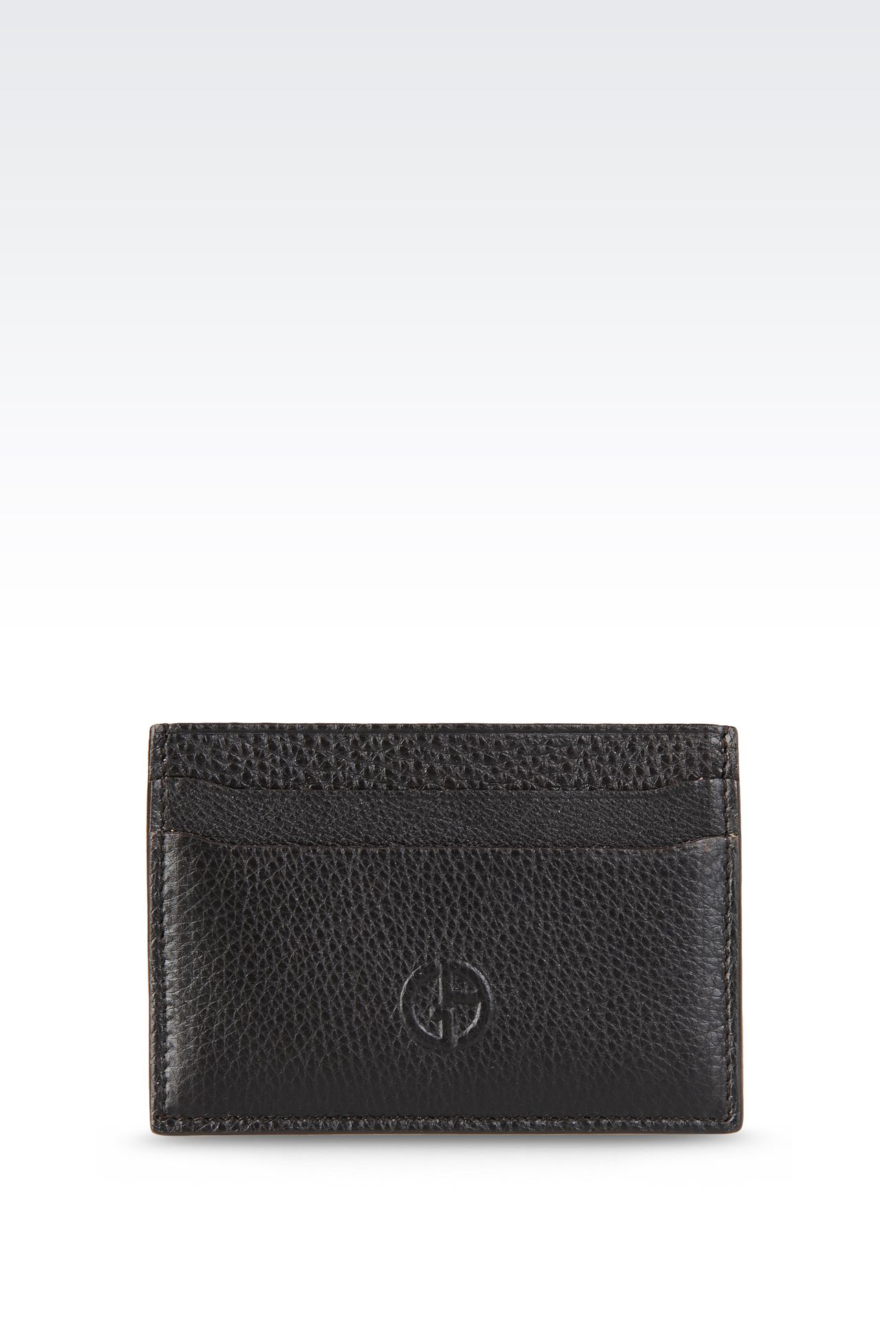 CARD HOLDER IN TUMBLED LEATHER: Card holders Men by Armani - 0