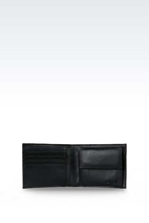 ALL OVER LOGO BILLFOLD WALLET WITH COIN POCKET: Wallets Men by Armani - 3