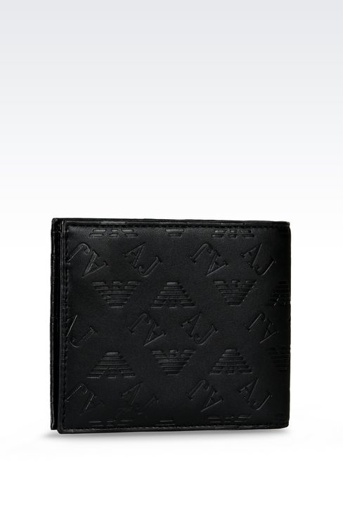 ALL OVER LOGO BILLFOLD WALLET WITH COIN POCKET: Wallets Men by Armani - 2