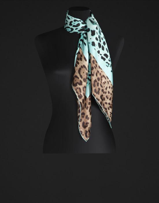 Floral print silk scarf - Foulards - Dolce&Gabbana - Summer 2016