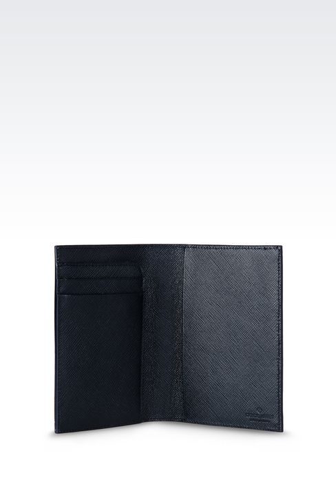 PASSPORT HOLDER IN SAFFIANO CALFSKIN: Document holders Men by Armani - 3