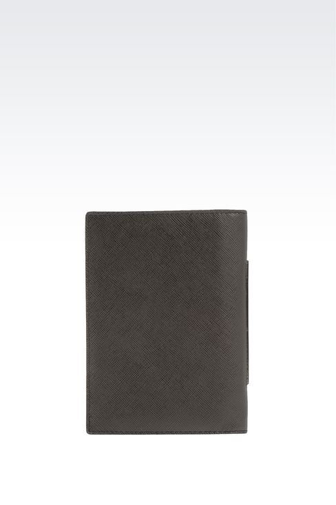 PASSPORT HOLDER IN SAFFIANO CALFSKIN: Document holders Men by Armani - 2