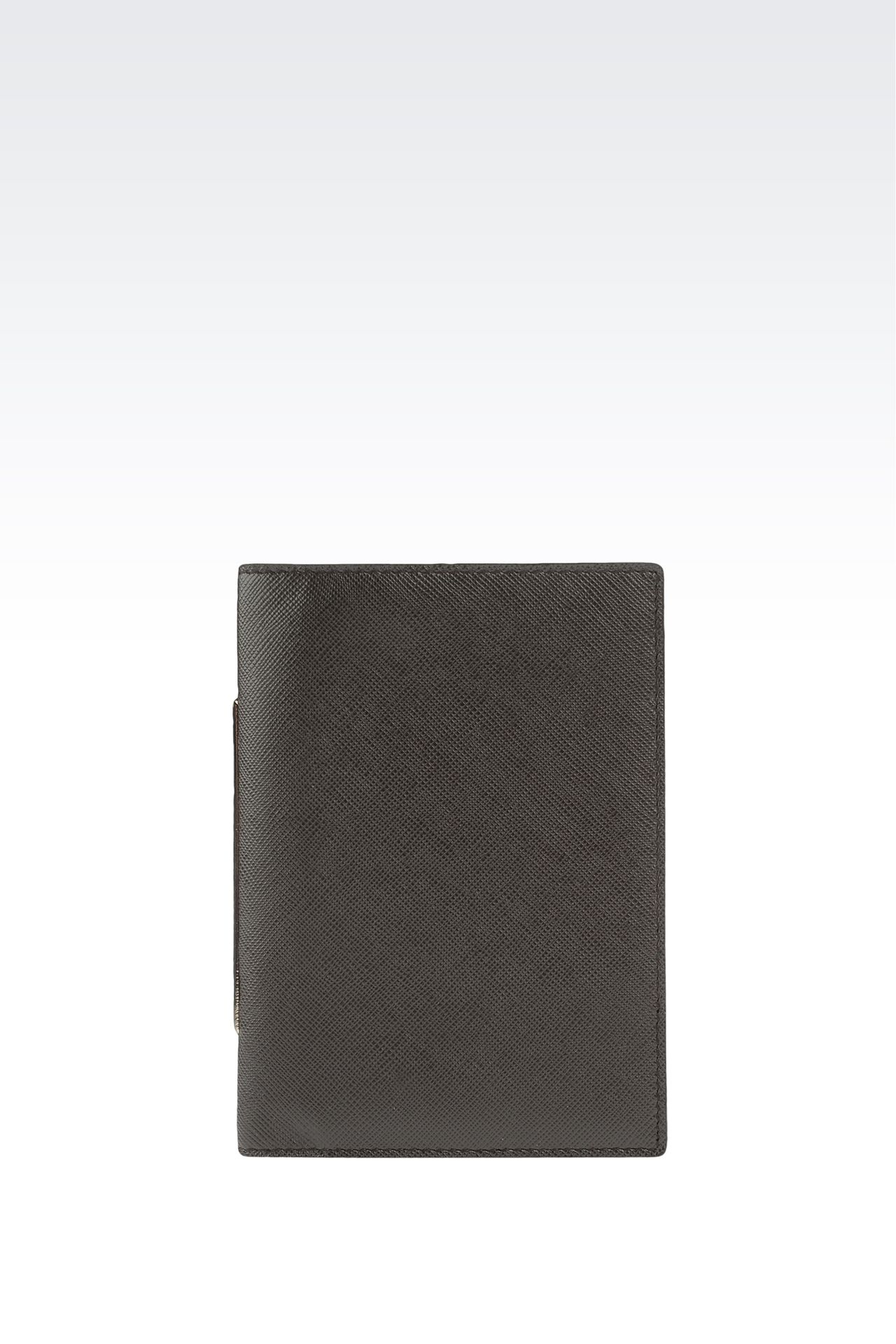 PASSPORT HOLDER IN SAFFIANO CALFSKIN: Document holders Men by Armani - 0