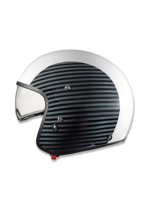 Helmets LIFESTYLE: HI-JACK WHITE/STRIPES