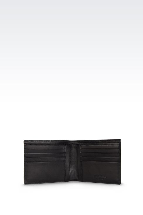 WALLET IN WOVEN CALFSKIN WITH LOGO: Wallets Men by Armani - 3