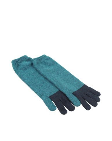 Two-Tone Cashmere Gloves