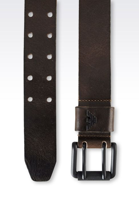 CALFSKIN BELT: Leather belts Men by Armani - 2