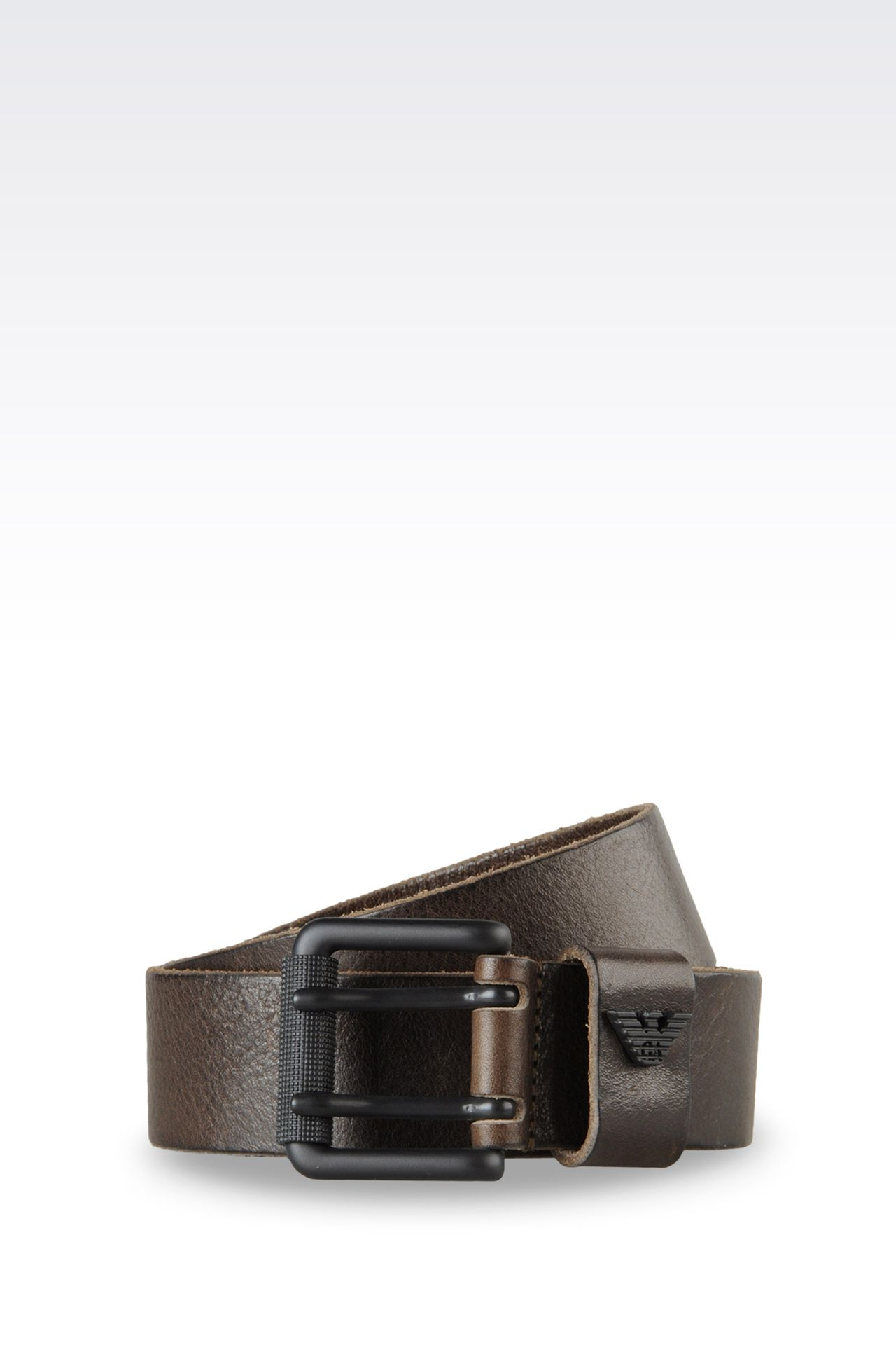 CALFSKIN BELT: Leather belts Men by Armani - 0
