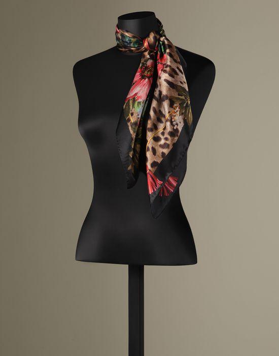 FOULARD STAMPA LEOPARDO E FIORI - Foulard - Dolce&Gabbana - Inverno 2016