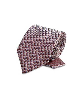 ERMENEGILDO ZEGNA: Cravate Bordeaux - 46266011LA
