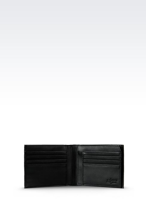BI-FOLD WALLET IN FAUX LEATHER WITH ALL OVER LOGO: Wallets Men by Armani - 3