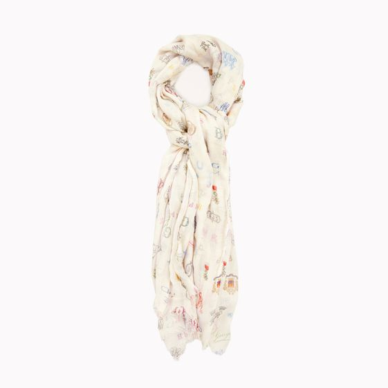 Stella McCartney, Silk Mix Monogram Print Scarf