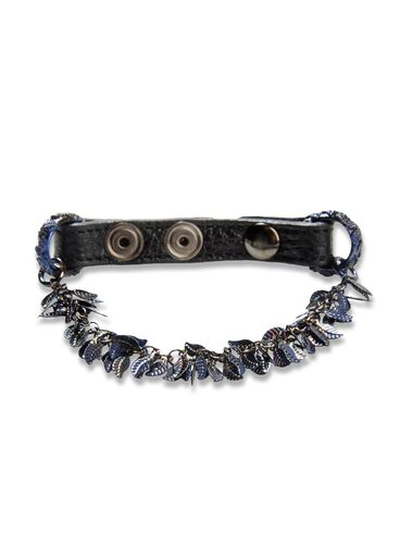 DIESEL BLACK GOLD - Cuff/Bracelet - LEAVE_LEATHER-BRACEL