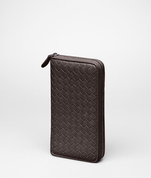 Nero Intrecciato Nappa Zip Around Wallet
