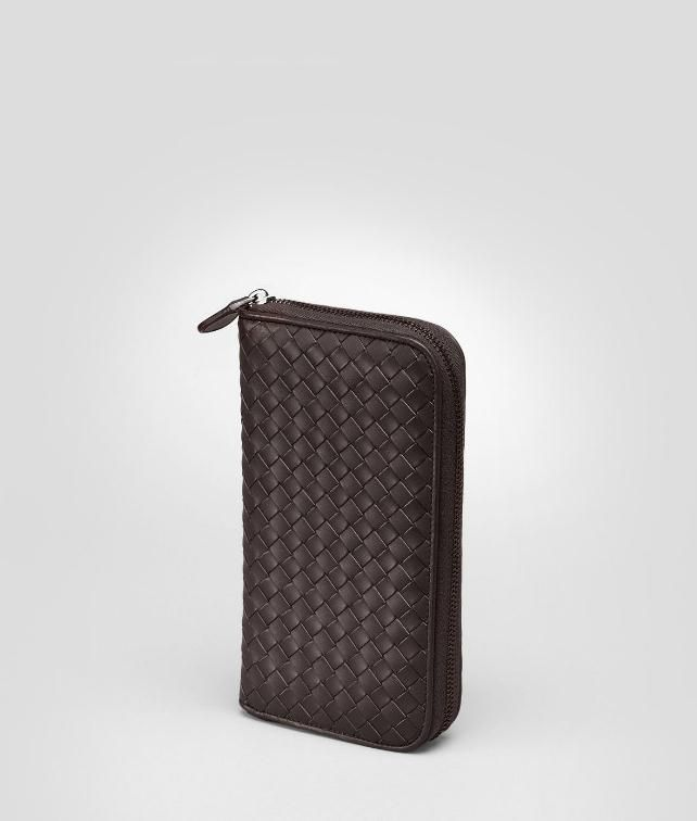 ZIP AROUND WALLET IN LIGHT TOURMALINE INTRECCIATO VN