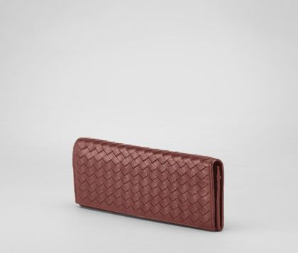 WalletSmall Leather GoodsLeatherRed Bottega Veneta