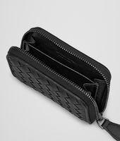 COIN PURSE IN NERO INTRECCIATO NAPPA