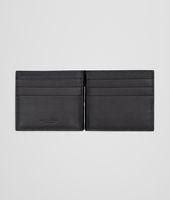 Portemonnaie  aus VN-Leder Intrecciato Nero