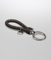 BOTTEGA VENETA - Key Rings, Ebano Intrecciato Nappa Key Ring