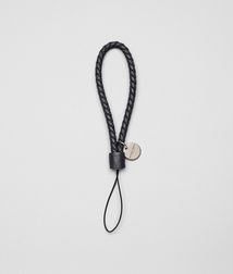 BOTTEGA VENETA - Mobile and Tech Accessories, Nero Intrecciato Nappa Cell Phone Strap