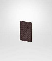 BOTTEGA VENETA - Card Cases and Coin Purses, Ebano Intrecciato VN Card Case