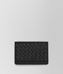 BOTTEGA VENETA - Card Cases and Coin Purses, Nero Intrecciato Nappa Card Case
