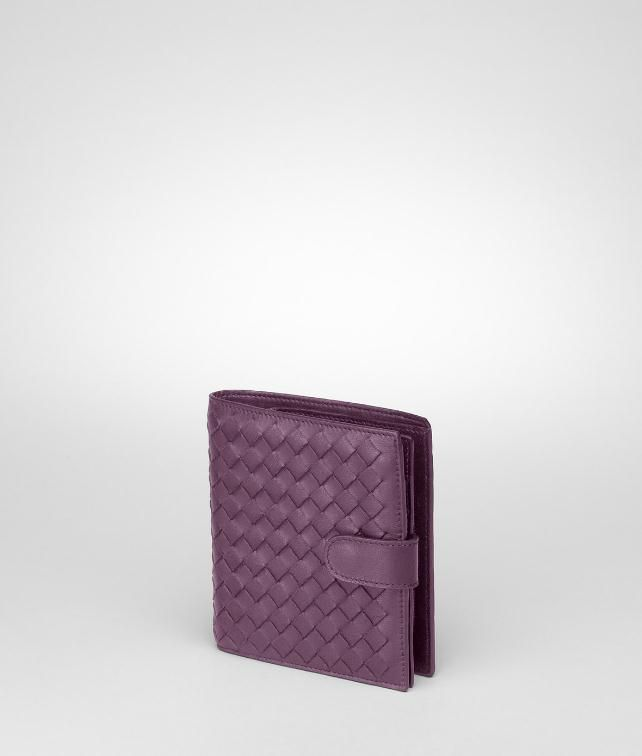 Nero Intrecciato Nappa French Flap Wallet
