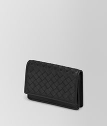 BOTTEGA VENETA - Card Cases and Coin Purses, Nero Intrecciato Vn Business Card Case