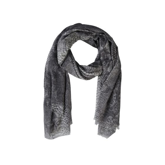 Stella McCartney, Python print silk Mix scarf 