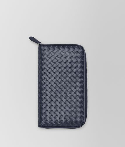 BOTTEGA VENETA - Light Tourmaline Intrecciato VN Zip Around Wallet