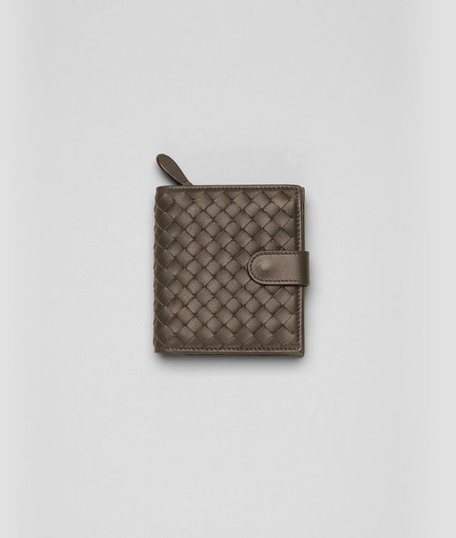 BOTTEGA VENETA Edoardo Intrecciato Nappa Continental Wallet Mini Wallet or Coin Purse D fp