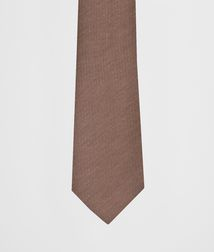 BOTTEGA VENETA - Ties, Brown Wool Silk Tie