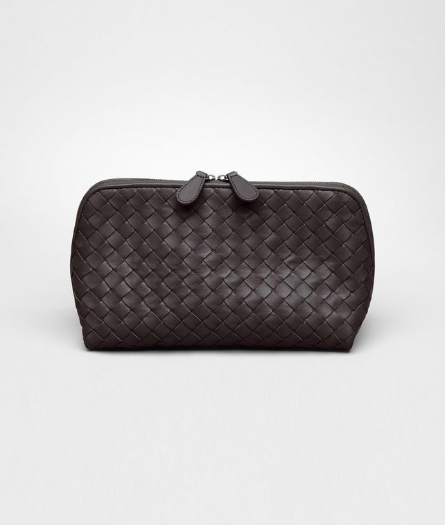 BOTTEGA VENETA Ebano Intrecciato Nappa Cosmetic Case Other Leather Accessory D fp