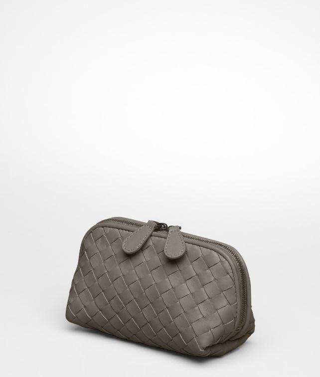 BOTTEGA VENETA Nero Intrecciato Nappa Cosmetic Case Other Leather Accessory D fp