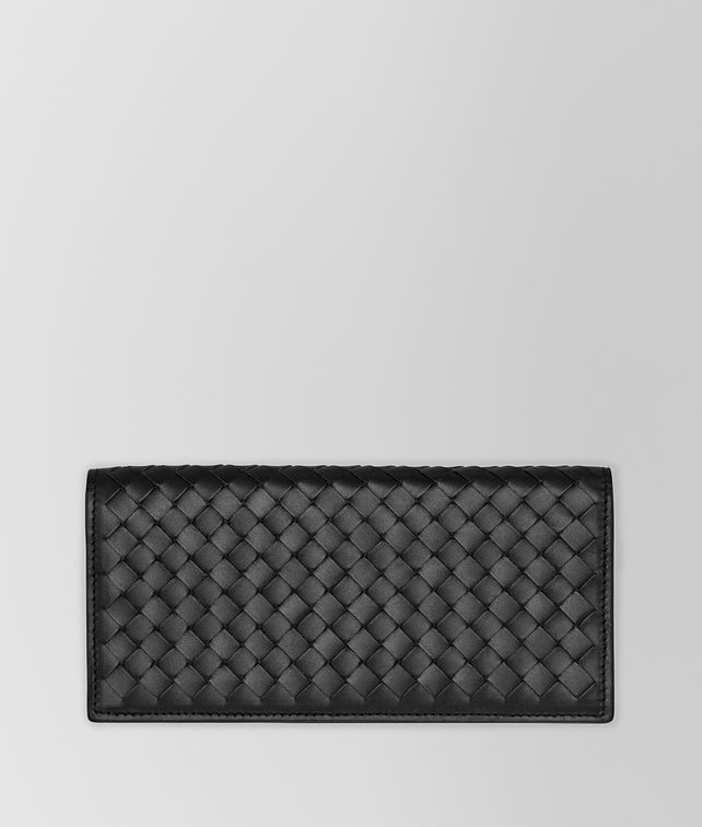 BOTTEGA VENETA CONTINENTAL WALLET IN NERO INTRECCIATO VN Continental Wallet U fp