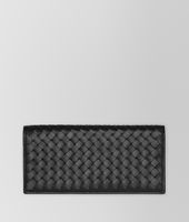 CONTINENTAL WALLET IN NERO INTRECCIATO VN
